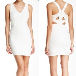 White Bodycon Cut Out Dress